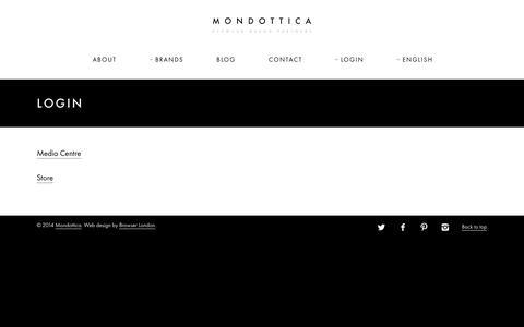 Screenshot of Login Page mondottica.com - Login | Mondottica - captured Oct. 7, 2014