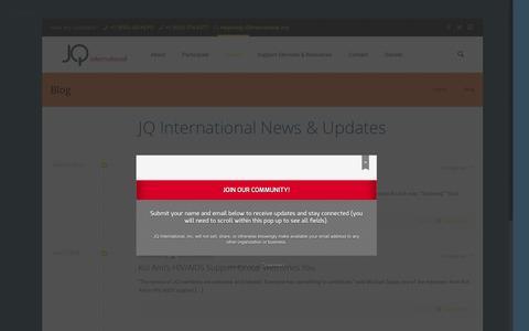 Screenshot of Blog jqinternational.org - Blog | JQ International - captured July 23, 2016