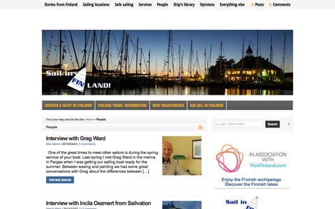 Screenshot of Team Page sail-in-finland.info - Interviews - Sail in Finland - captured Sept. 30, 2014