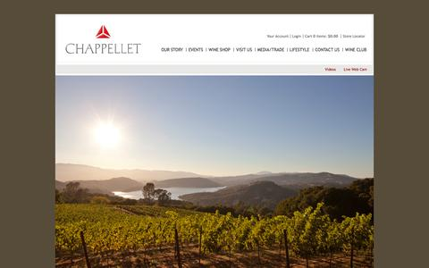 Screenshot of Home Page chappellet.com - Chappellet - captured Oct. 2, 2014