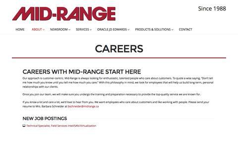 Screenshot of Jobs Page midrange.ca - Careers   Mid-Range - captured Nov. 28, 2016