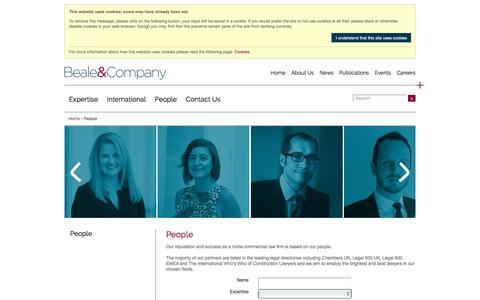 Screenshot of Team Page beale-law.com - Beale and Company People - captured Oct. 10, 2017
