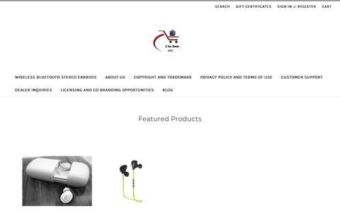 Screenshot of Home Page 2gobuds.com - 2GoBuds.com Wireless Bluetooth Stereo Earbuds HoverBoards - captured Oct. 19, 2018