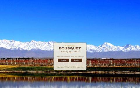 Screenshot of Home Page domainebousquet.com - Domaine Bousquet Winery - captured Sept. 30, 2014