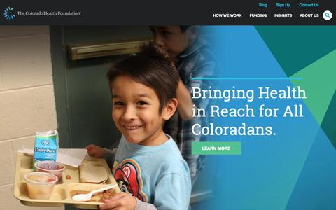 Screenshot of Home Page coloradohealth.org - Home | The Colorado Health Foundation - captured Oct. 18, 2018