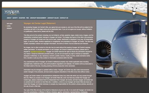 Screenshot of Terms Page voyagerjet.com - Voyager Jet Center: Legal - captured Oct. 7, 2014
