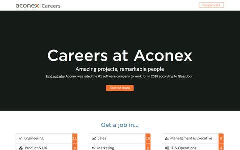 Screenshot of Jobs Page aconex.com - Aconex | Careers at Aconex - captured Jan. 14, 2018