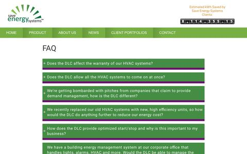 Screenshot of FAQ Page saveenergysystems.com - FAQ - Frequently Asked Questions - Save Energy Systems - captured Oct. 2, 2018