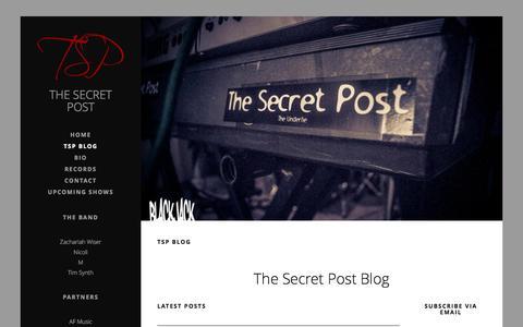 Screenshot of Blog thesecretpost.net - TSP Blog | News - Updates - Shows - Interviews - The Secret Post - captured Oct. 9, 2014