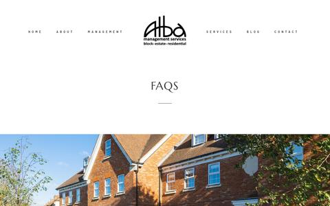 Screenshot of FAQ Page albamanagement.co.uk - FAQS - Alba Management - captured Dec. 18, 2018