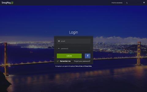 Screenshot of Login Page smugmug.com - Photo Sharing. Your Photos Look Better Here. - captured Jan. 12, 2016
