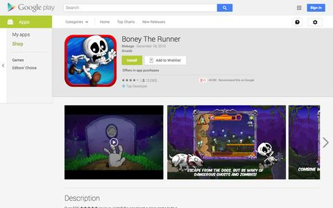 Screenshot of Android App Page google.com - Boney The Runner - Android Apps on Google Play - captured Oct. 23, 2014