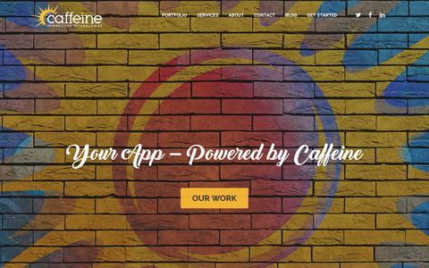 Screenshot of Home Page caffeineinteractive.com - Websites and Applications - Caffeine Interactive - captured July 15, 2018