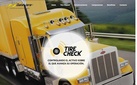 Screenshot of Home Page tirecheck.com.mx - Tire Check | DataWare - captured Sept. 13, 2015