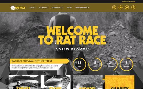 Screenshot of Home Page ratrace.com - Rat Race Adventure Sports - captured Sept. 23, 2018