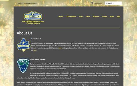Screenshot of About Page shopfloridalaunch.com - About Us – The Florida Launch Online Store - captured March 25, 2016