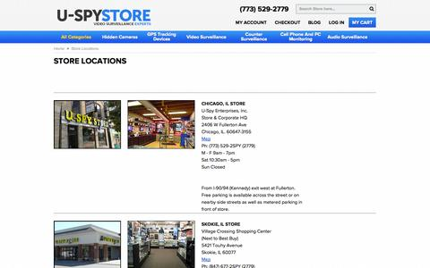 Screenshot of Locations Page uspystore.com - Store Locations - captured Oct. 31, 2014