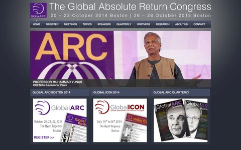 Screenshot of Home Page global-arc.net - Global ARC - captured Oct. 9, 2014