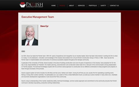 Screenshot of Team Page parrishconstruction.com - Parrish Construction | Management Team - captured Oct. 21, 2016