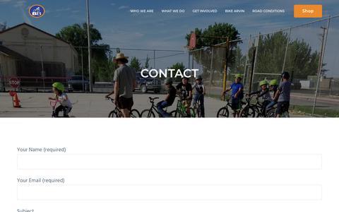 Screenshot of Contact Page bikebakersfield.org - Contact   BIKE BAKERSFIELD - captured Aug. 2, 2018