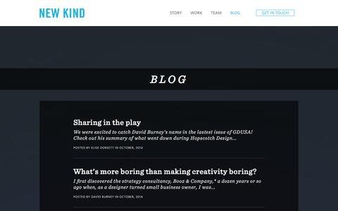 Screenshot of Blog newkind.com - newkind - captured Oct. 26, 2014