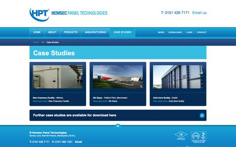 Screenshot of Case Studies Page hemsec.com - Hemsec Panel Technologies | Case Studies - captured Oct. 1, 2014