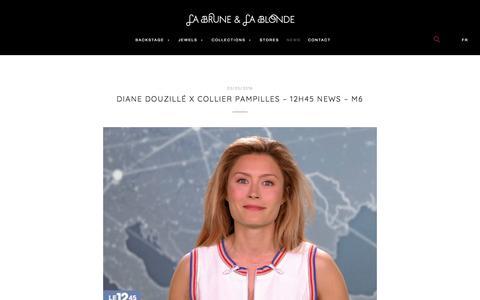 Screenshot of Press Page labruneetlablonde.com - News - LA BRUNE & LA BLONDE - nude diamond - captured Sept. 26, 2018