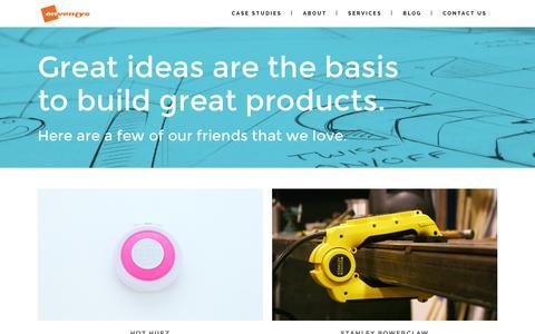 Screenshot of Case Studies Page enventys.com - Enventys | Our Work - captured Dec. 10, 2015