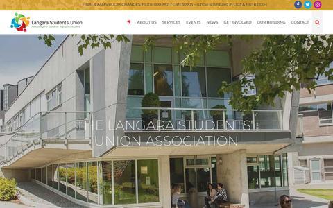 Screenshot of Home Page lsu.bc.ca - The Langara Students Union Association - captured Dec. 4, 2018