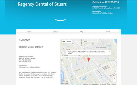 Screenshot of Contact Page regencydentalofstuart.com - Contact Regency Dental of Stuart - captured June 13, 2017
