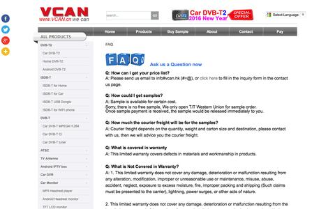 Screenshot of FAQ Page vcan.cc - Buyers Guide - captured Feb. 13, 2016