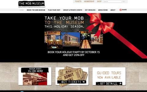 Screenshot of Home Page themobmuseum.org - Mob Museum   Mob Museum - captured Sept. 23, 2014