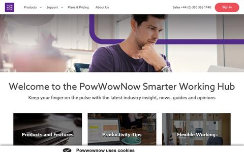 Screenshot of Blog powwownow.co.uk - Smarter Working Hub | PowWowNow - captured Nov. 5, 2018