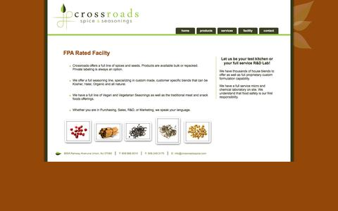 Screenshot of Services Page crossroadsspice.com - Crossroads Spice & Seasonings | Union, NJ - captured March 4, 2017