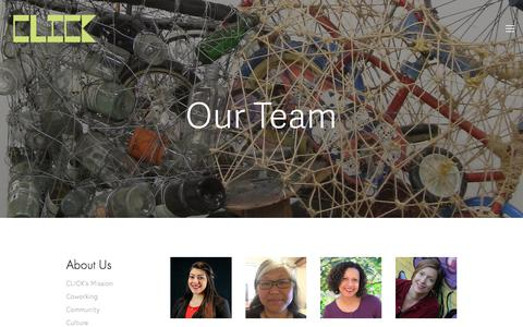 Screenshot of Team Page clickworkspace.org - Our Team — >>Click Workspace - captured July 19, 2018