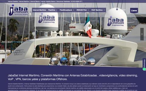 Screenshot of Home Page internet-maritimo.com - JabaSat - Internet Maritimo Satelital Maritima Barcos Offshore Golfo Mex - captured Oct. 24, 2018