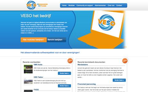 Screenshot of Home Page Site Map Page verenigingensoftware.nl captured Oct. 7, 2014