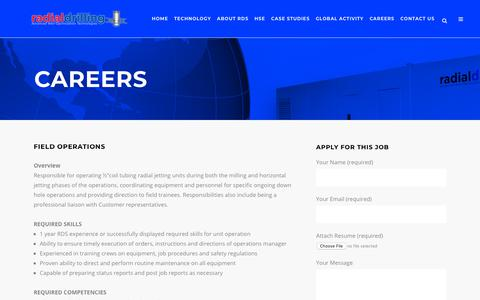 Screenshot of Jobs Page radialdrilling.com - Radial Drilling Services, Inc. |   Careers - captured Oct. 19, 2018