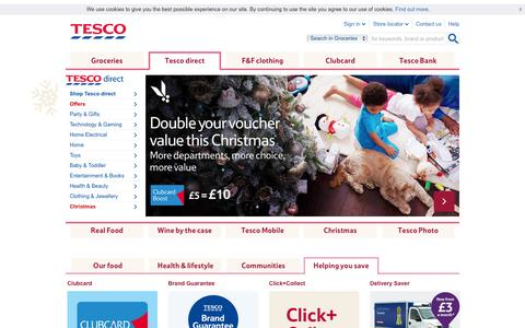 Tesco.com - online shopping; bringing the supermarket to you - Every little helps