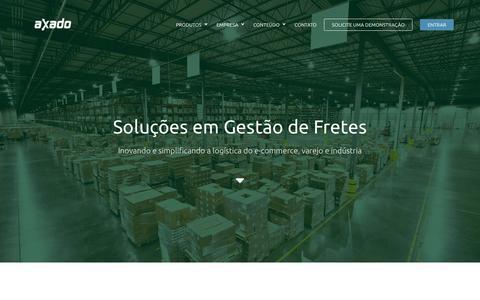 Screenshot of Home Page axado.com.br - Axado - Plataforma de gestão de fretes - captured July 3, 2016
