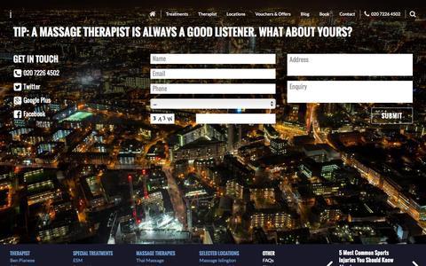 Screenshot of Contact Page massaggi.co.uk - Contact Massaggi - captured Jan. 9, 2016