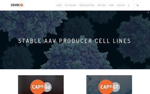 Screenshot of Home Page cevec.com - CEVEC - captured July 12, 2018