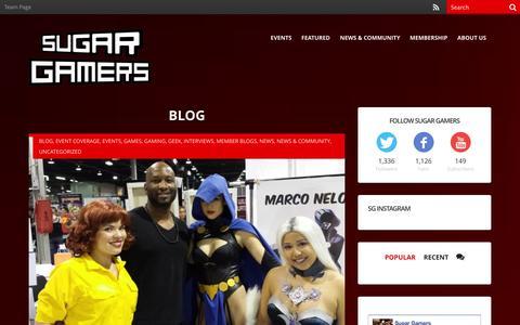 Screenshot of Blog sugargamers.com - Blog Archives | Sugar Gamers - captured Sept. 30, 2014