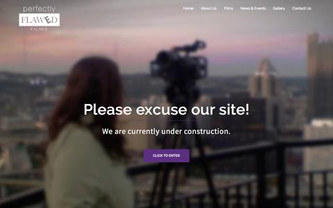 Screenshot of Home Page perfectlyflawedfilms.com - Perfectly Flawed Films | Hello and welcome to our site! To say that it is under construction right now is an understatement, so please excuse our messy appearance and check back soon! - captured Sept. 19, 2015