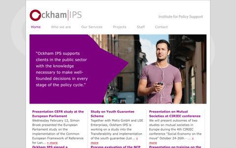Screenshot of Home Page ockham-ips.nl - Ockham-IPS > Home - captured Sept. 30, 2014