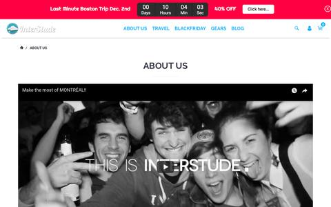 Screenshot of About Page interstude.com - About Us – interstudeinc - captured Nov. 25, 2017
