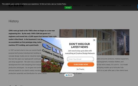 Screenshot of About Page cdn-inc.com - Product Development | Engineering Firm | Creative Design Network (CDN) - captured Sept. 30, 2018