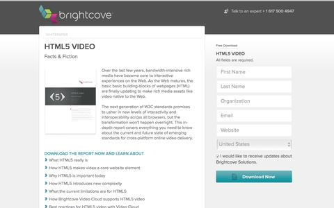 Screenshot of Landing Page brightcove.com - Brightcove  HTML5 Video Facts and Fiction - captured June 23, 2016