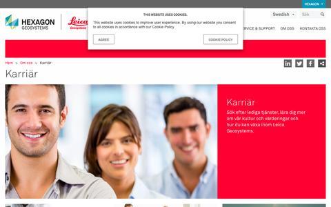 Screenshot of Jobs Page leica-geosystems.com - Karriär - captured Jan. 22, 2017