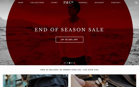 Screenshot of Home Page pand.co - Winter Sale - Up To 50% OFF! – P&Co - captured Jan. 22, 2016